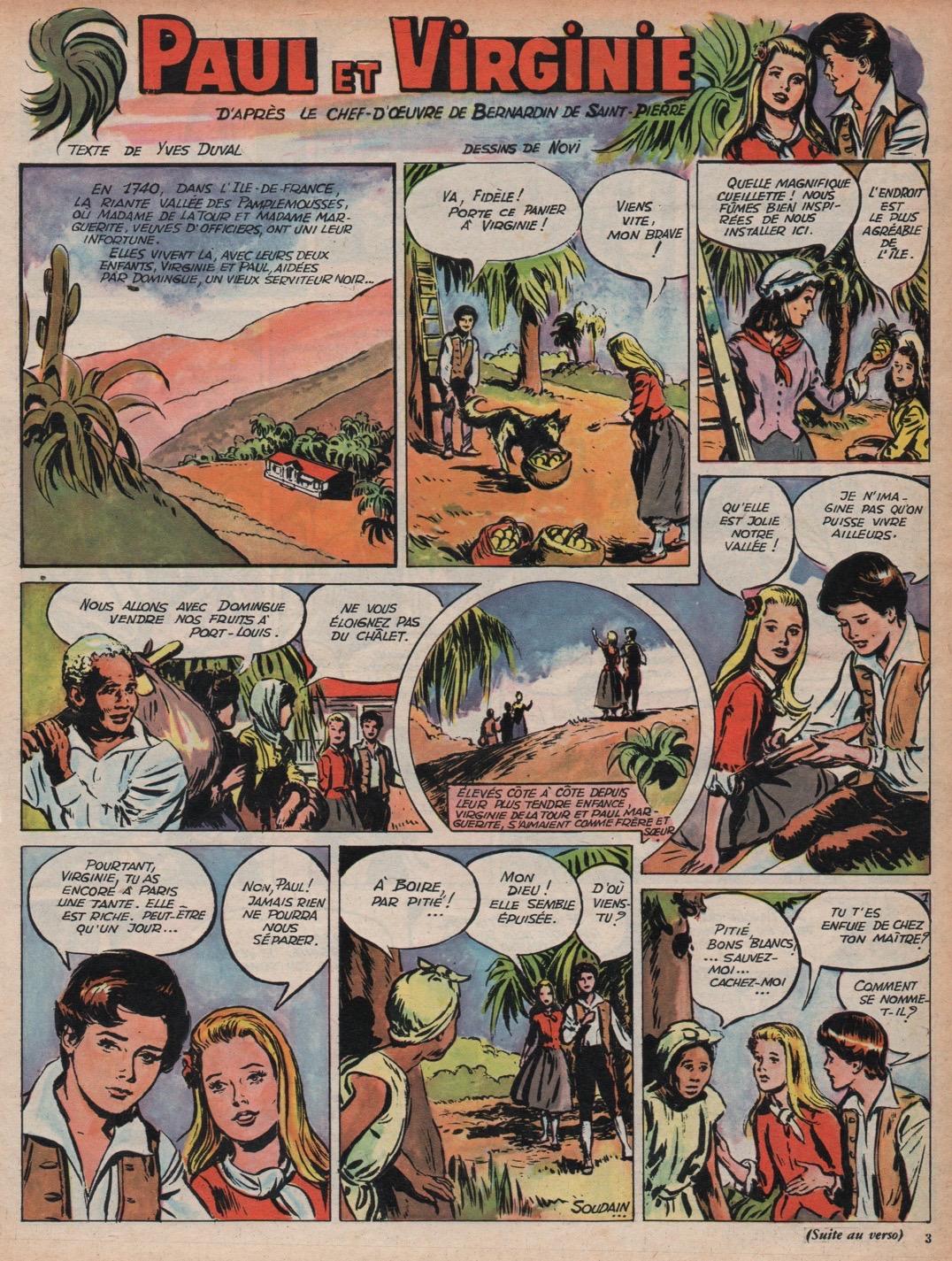 « Paul et Virginie » dans Line n° 306 (18/01/1961).
