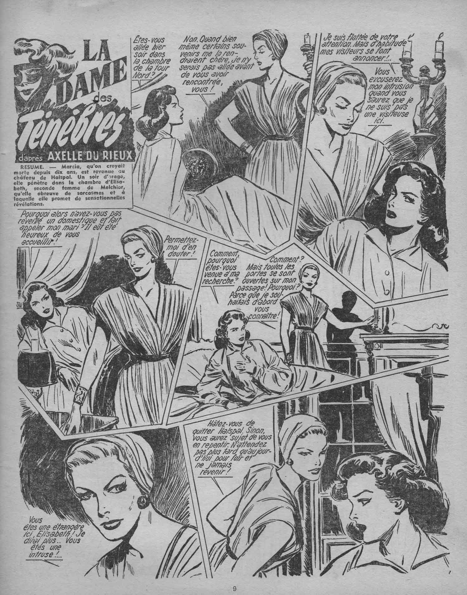 « La Dame des ténèbres » dans La Vie en fleurs n° 99 (4e trimestre 1954).