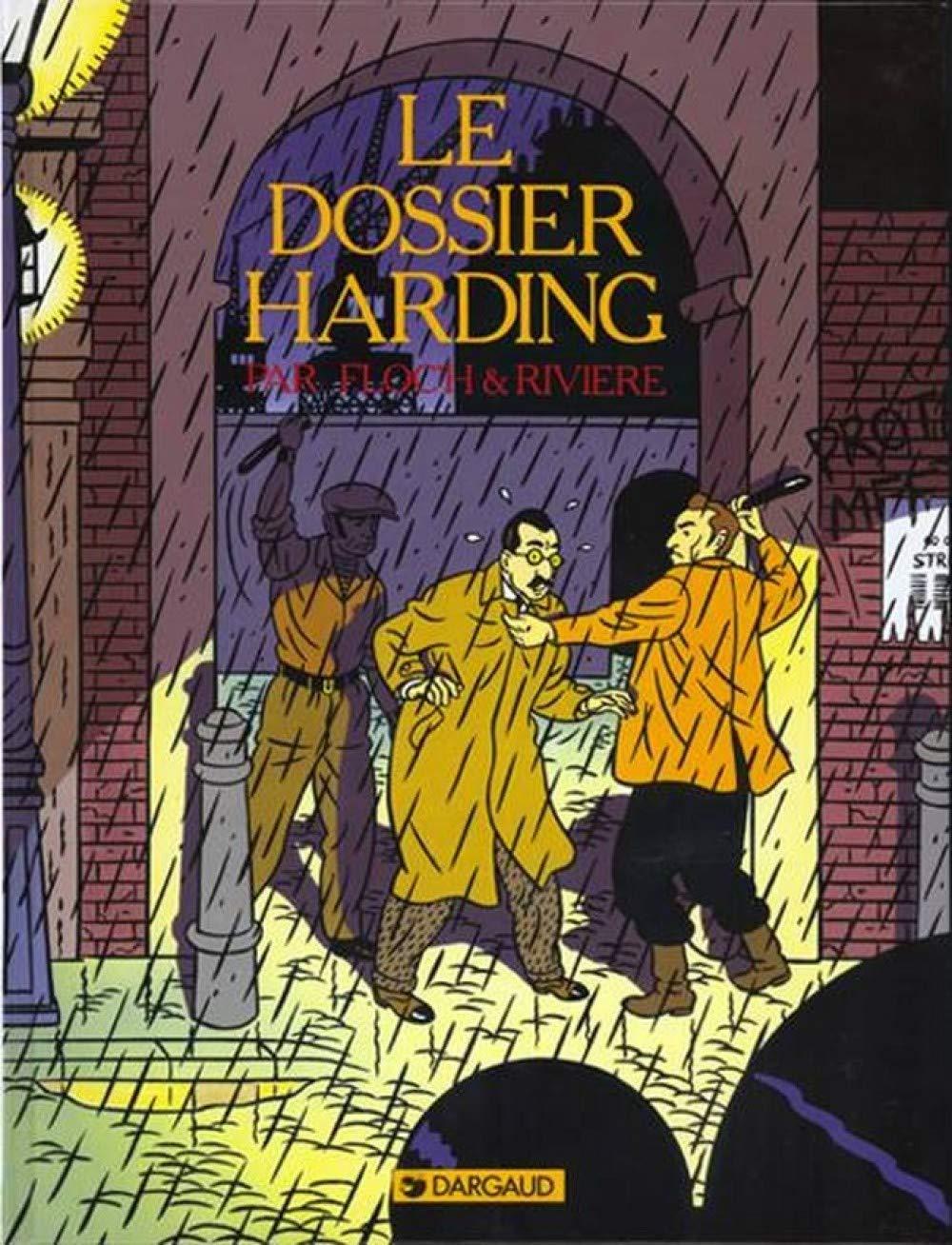 """Couverture de la réédition du """"Dossier Harding"""" (Dargaud 1984 - 2019)"""