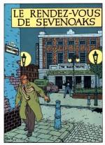 Visuel pour une carte postale et dessin de couverture pour Le Rendez-vous de Sevenoaks (Dargaud 1977)