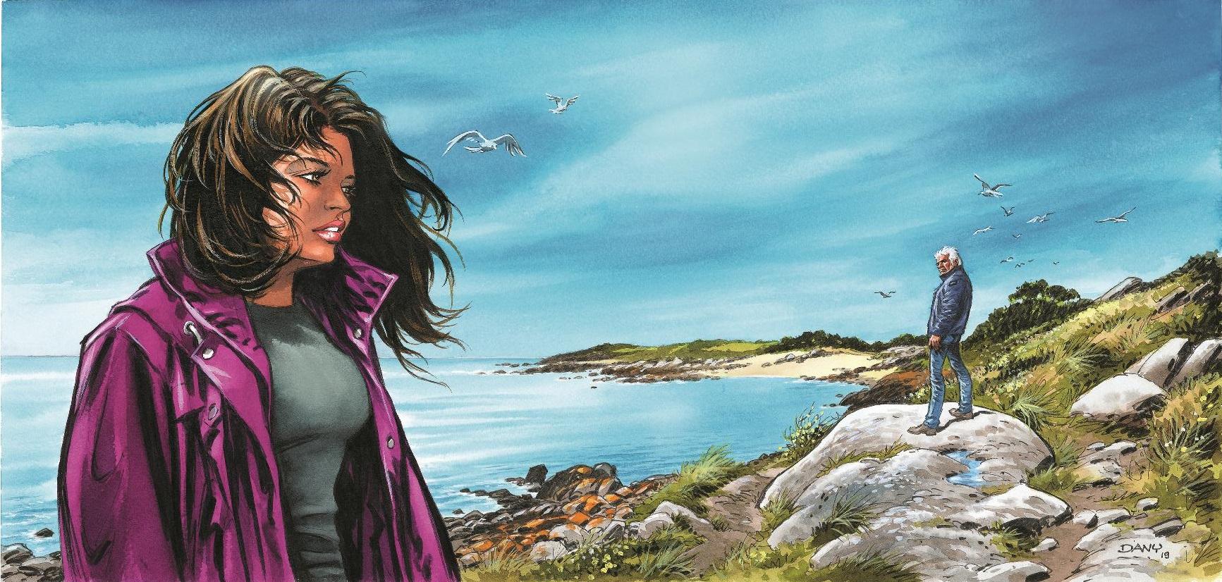 Visuel pour la couverture de l'édition spéciale (Dupuis - 2020) et dessin pour un ex-libris