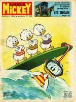 Une nouvelle série pour le Journal de Mickey (n° 1003 du 5 septembre 1971) : couverture et première planche