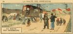 """""""Les Saltimbanques""""  : aquarelle de Ferdinand Raffin pour """"Vocabulaire et méthode d'orthographe - composition française"""" en 1926."""