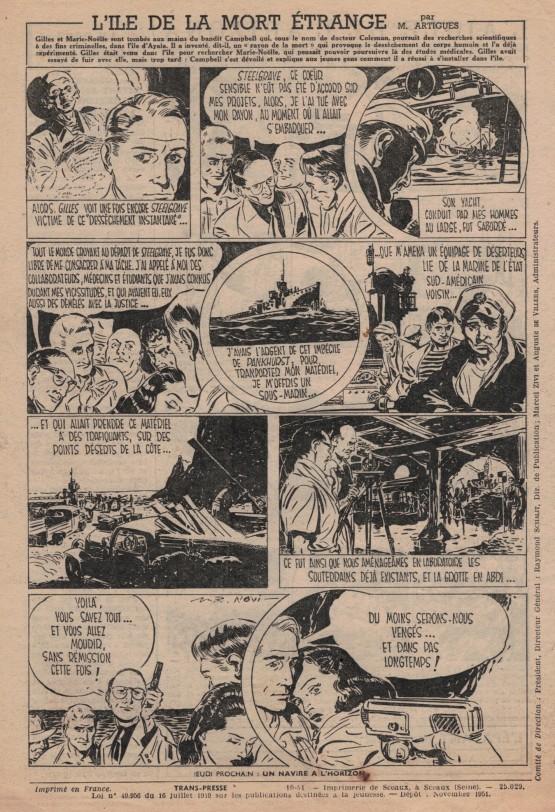 « L'Île de la mort étrange » dans L'Épatant, en 1951.
