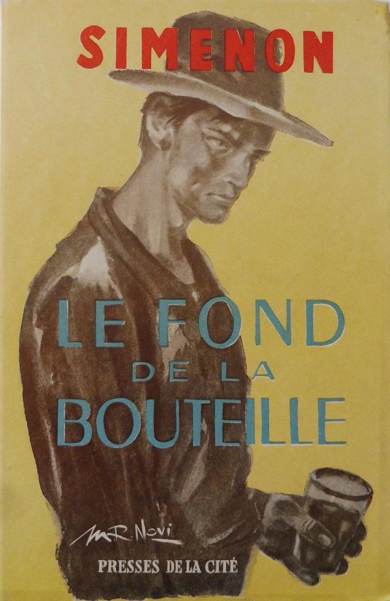 Couverture d'un roman de Georges Simenon paru aux Presses de la cité, en 1949.