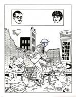 """Encrage de couverture pour """"Black Out et autres histoires du Blitz"""" (Dargaud, 2009)"""