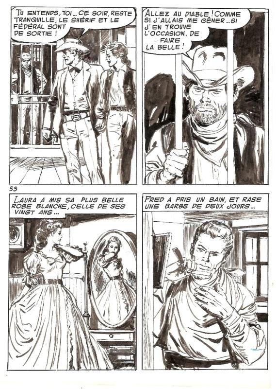 Planche originale de « La Fille aux fusils » publié dans Frimousse 241 (06/1968).