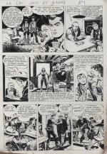 Une planche originale de « La Loi joue et gagne » : six pages publiées dans Le Journal des Pieds nickelés n° 18 (12/1949).
