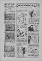 «Encore une gaffe» dans Bernadette n°484 (11/03/1956).