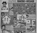 Page de jeux avec Barbe-Rouge dans Pilote n°124 (08/03/1961).