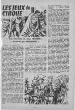 Illustrations pour « Les Jeux du cirque » dans Frimousse magazine n° 34 (05/1965).