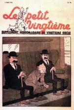 Unes du Petit Vingtième (n° 18 du 6 mai 1937, n° 22 du 3 juin, n° 38 du 23 septembre et n° 2 du 13 janvier 1938),