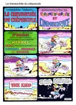 """Le jeu avec les codes du Western : """"La Chevauchée du crépuscule"""" (Pif  n° 175 du 26 juin 1972 )."""