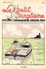 La plus signifiante des couvertures du Petit Vingtième (n° 4 du 27 janvier 1938).