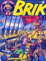 """Couverture et extrait de """"Brik"""", série rééditée par Le Coffre à BD en 2009."""