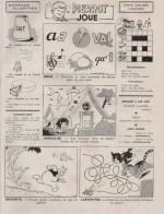 « Pierrot Joue » dans Les Belles Images de Pierrot n° 46 (15/02/1954).