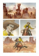 Le célèbre Tex Willer dans « Prisonnière des Apaches ».