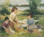 Une toile de Pierre Duteurtre, le peintre.