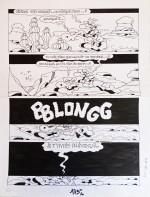 """Planche originale pour le gag """"La Nuit tombe"""" (Pif Gadget n° 307 du 13 janvier 1975)"""