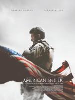 """Affiche française pour """"American Sniper"""" (C. Eastwood, 2015)."""