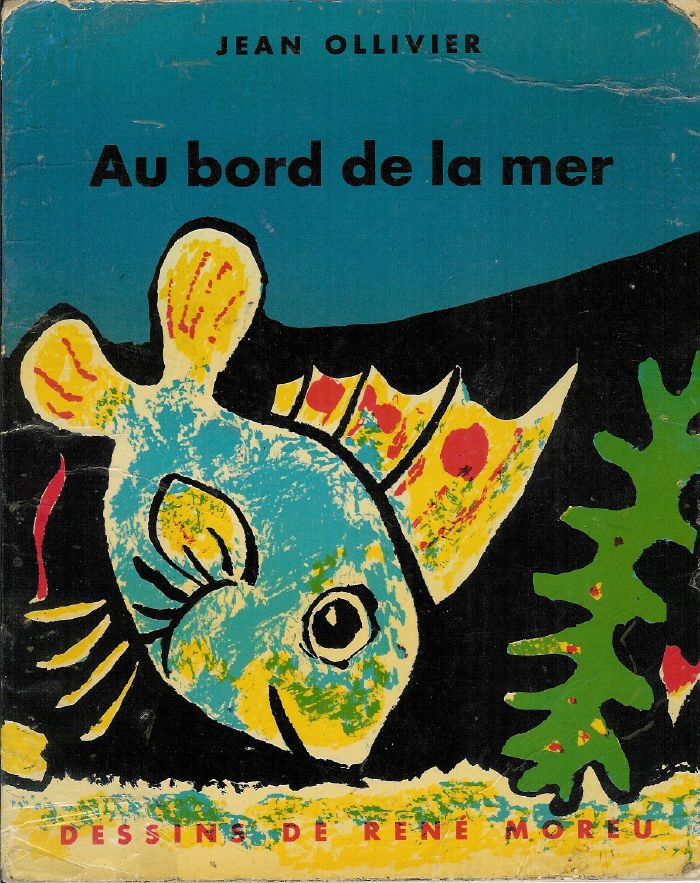 Illustration de couverture de « Au bord de la mer » par Jean Ollivier ; La Farandole, 1961.