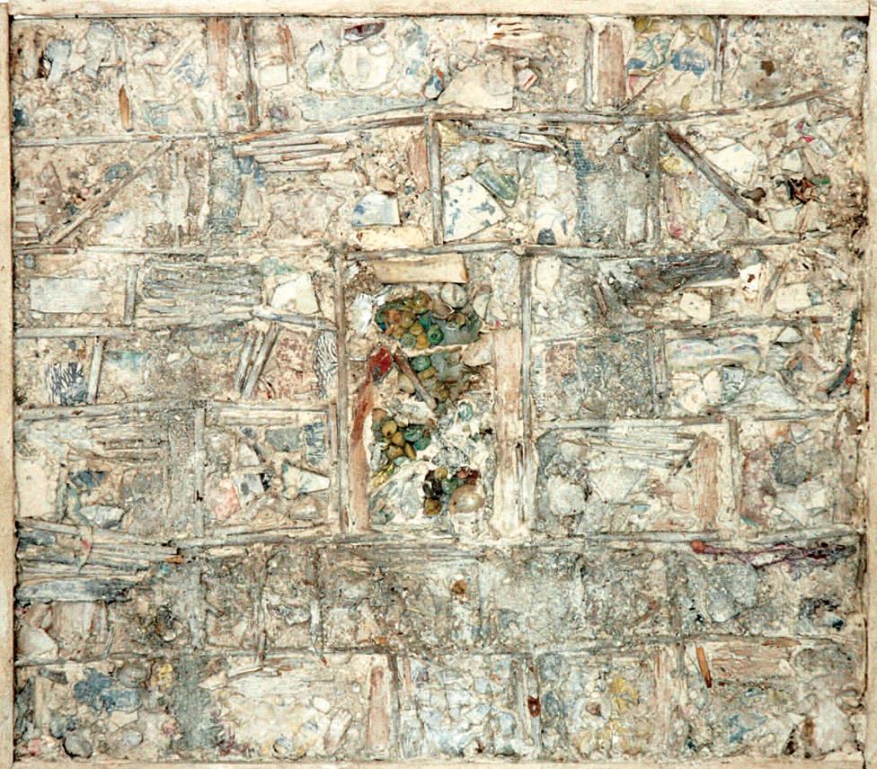 « Fleur de pierre » : technique mixte réalisée par René Moreu ,1980.