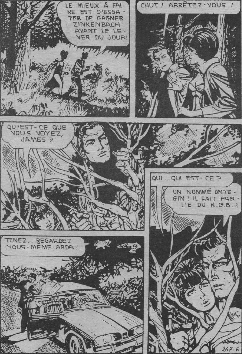 """Dans Atemi en 1989, les strips originaux étaient traduits et remontés en """"planches"""", comme ici  avec les strips n° 2949 et 2950 de """"Till Death Do Us Apart"""" (1975)."""