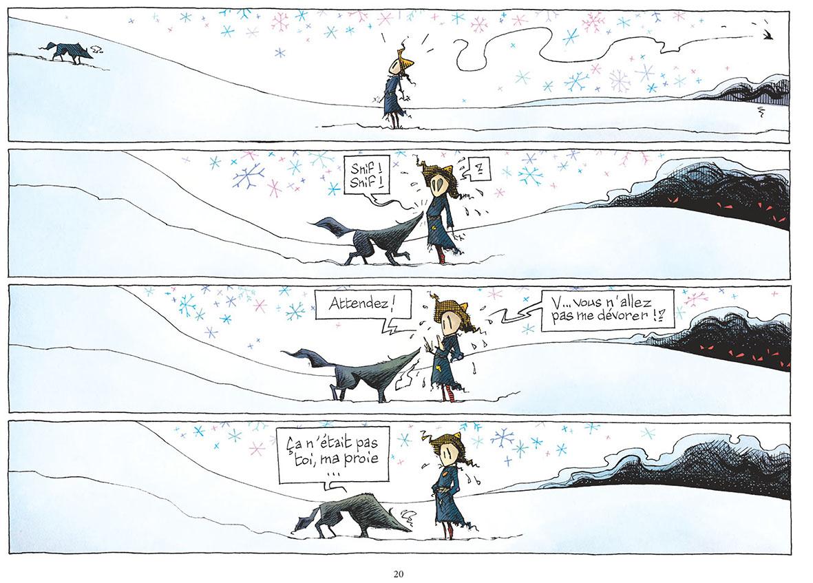 Le loup et l'émouvantail...