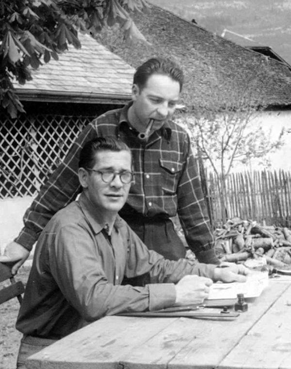 René Moreau avec José Cabrero Arnal, en 1952.