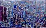 « La Dentelle bleue» : oeuvre de René Moreu, 1992.