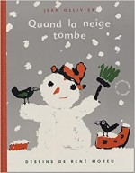 Illustration de couverture de « Quand la neige tombe» parJean Ollivier ; Circonflexe, 2005.