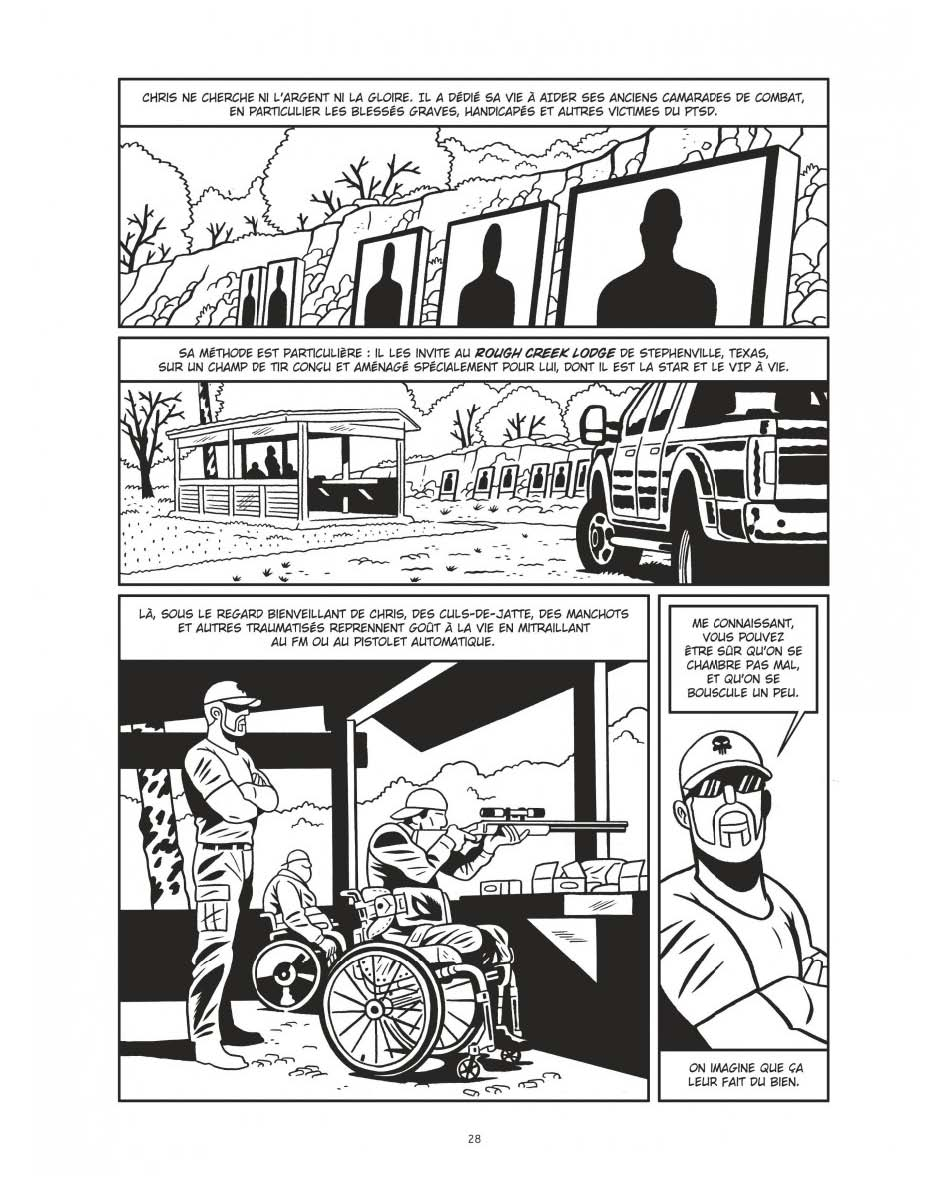 L'ambition d'utiliser les armes pour soigner : un projet dangereux... (page 28 - Dargaud 2020).
