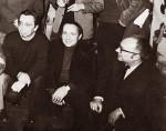 René Moreu à côté de Roger Lécureux et Jacques Kamb, chez Pif gadget en 1973.