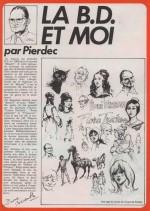 « La BD et moi » dans Formule 1 n° 40 (1977).
