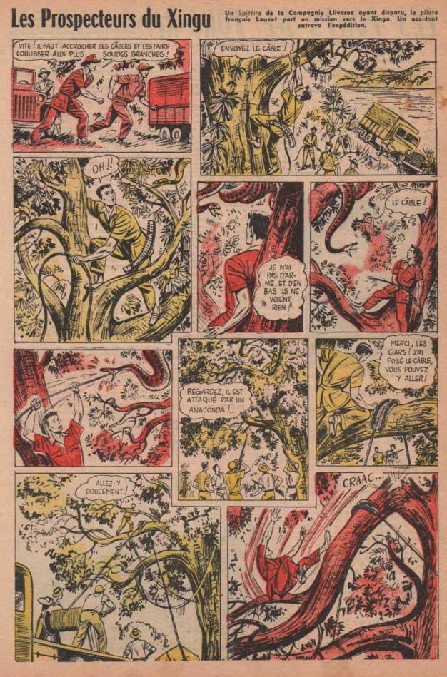 « Les Prospecteurs du Xingu » dans Bayard n° 470 (04/12/1955).