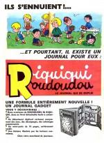 Publicité pour Riquiqui Roudoudou dans Pif gadget n° 57 (mars 1970).