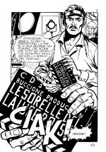 Première page de la série «Pornostar» parue dans le supplément à La Professionista n° 9 (Edifumetto, 1983). Les aventures de cette actrice (fictive) de films X ne seront pas traduites par Elvifrance.