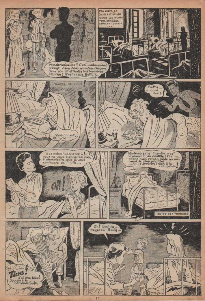 «Ce démon de Betty» dans Lisette n°52 (25/12/1954).
