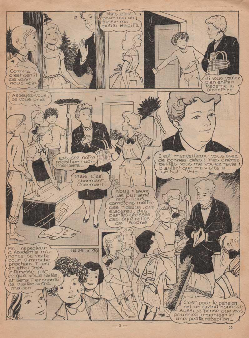 «La Maison de Betty» dans Lisette n°29 (15/07/1956).