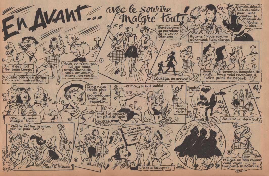 «En Avant…» dans Âmes vaillantes n°23 (06/06/1954).