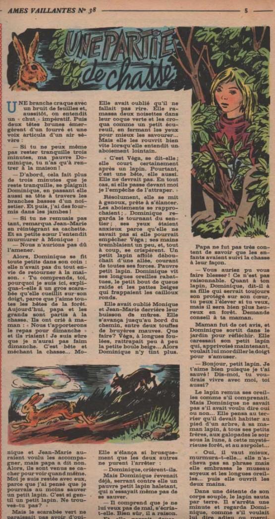 « Une Partie de chasse » dans Âmes vaillantes n° 38 de 1952.