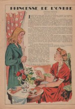 « Princesse de l'ombre » dans Lisette n° 1 (3/01/1954).
