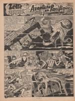 « Zette reporter : Aventure en Pacifique » dans Lisette n° 38 (16/09/1956).