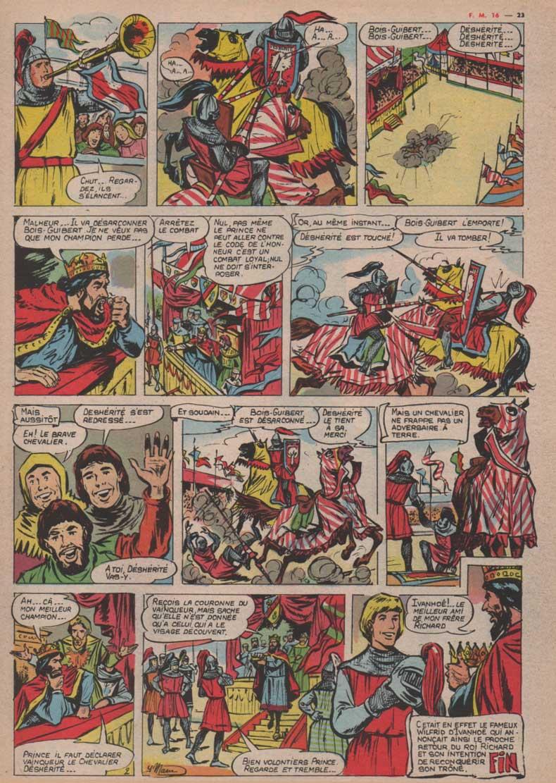 « Le Chevalier sans visage » dans Fripounet et Marisette n° 16 (20/04/1961).