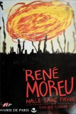 Affichette exposition Moreu à la Halle St-Pierre, 2004.