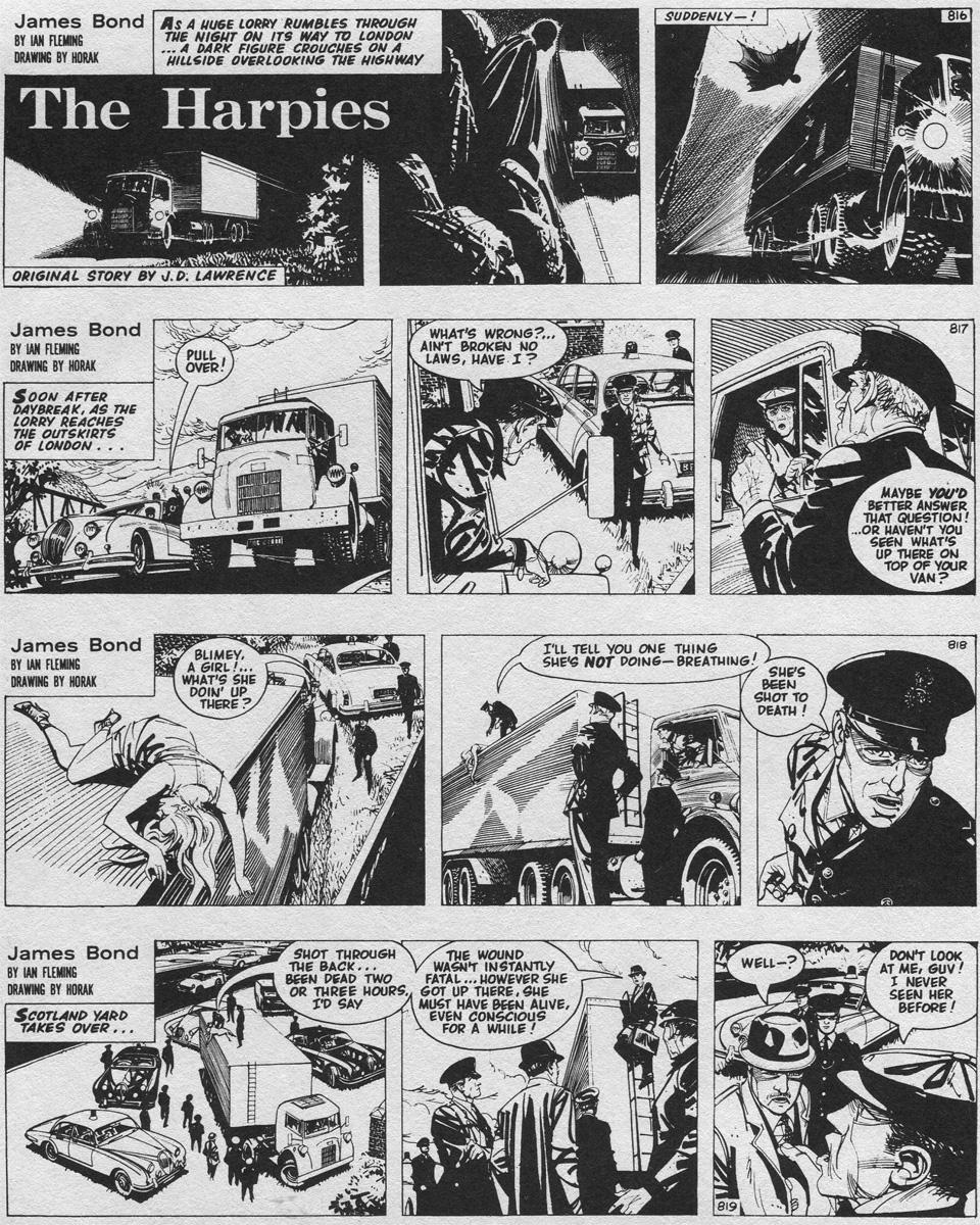 """""""The Harpies"""" (1968 - 1969), le premier récit entièrement imaginé par Jim Lawrence et Yaroslav Horak."""