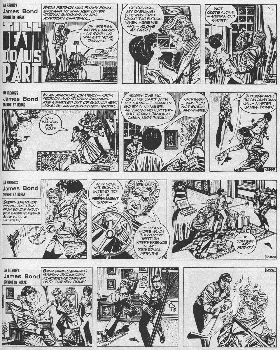 """Les histoires d'amour finissent mal... (Strips introductifs pour """"Till Death Do Us Apart"""", 1975)."""