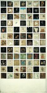 « Casiers mirobolants » : materiaux sur bois,1983.
