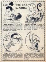 Le Club des quatre caricaturés dans Vaillant n° 200.