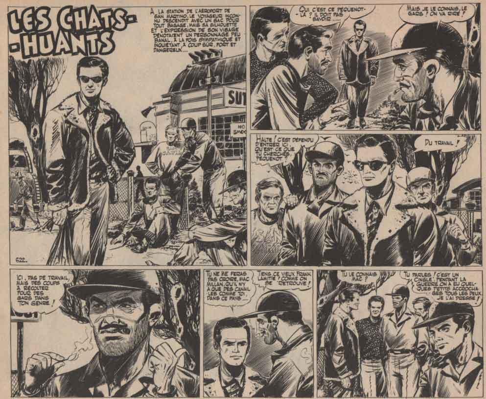 « Les Chats-huants » Vaillant n° 622 (14/04/1957).